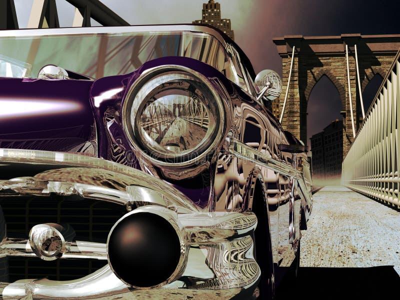 bridżowy Brooklyn samochodu klasyk royalty ilustracja
