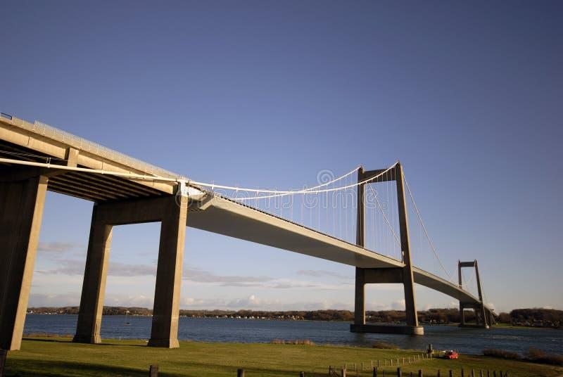 bridżowy Denmark zawieszenie obrazy stock