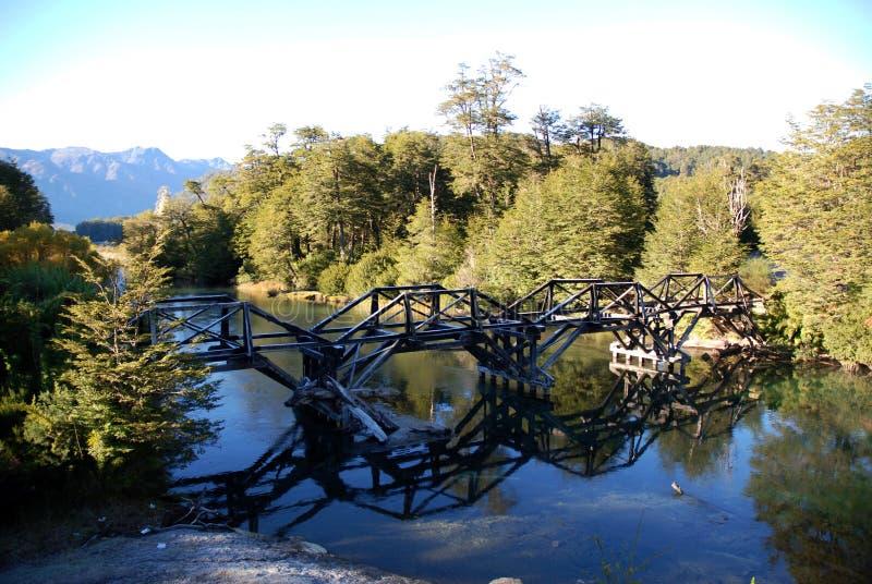 bridżowy drewno fotografia royalty free