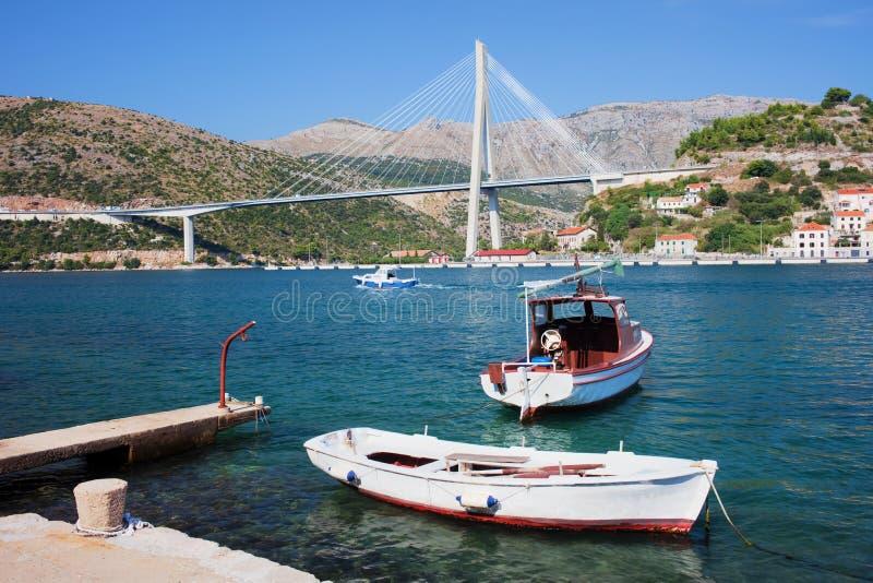 bridżowy Dubrovnik obrazy stock