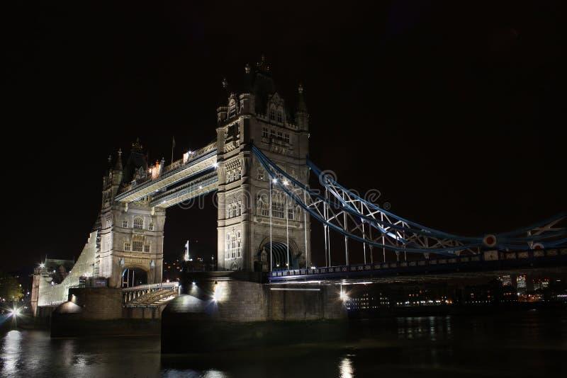 bridżowy England London noc wierza zdjęcia stock