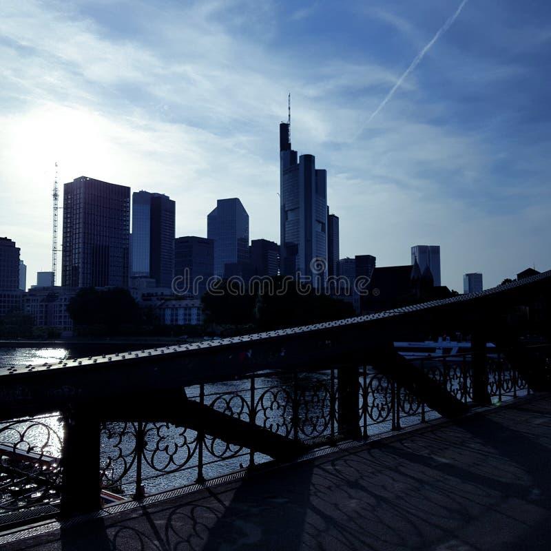 bridżowy Frankfurt fotografia royalty free