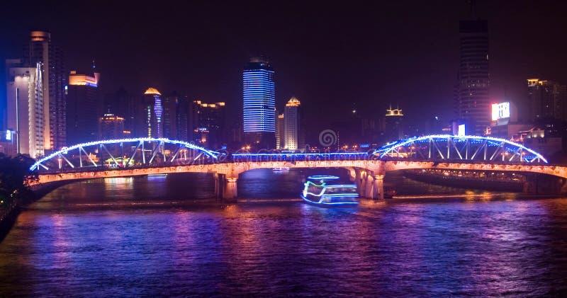 bridżowy Guangzhou obrazy stock