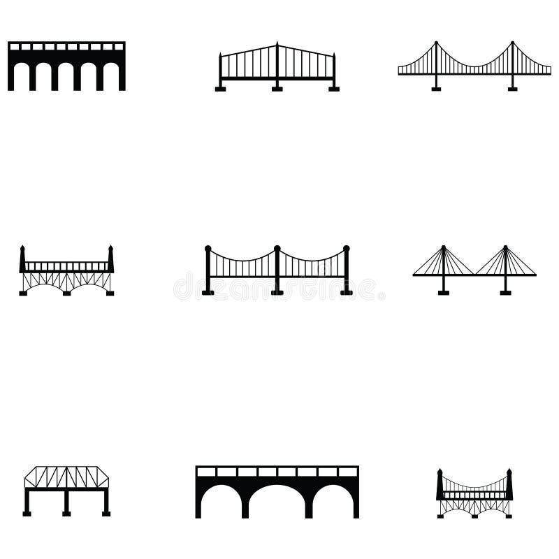 Bridżowy ikona set ilustracja wektor