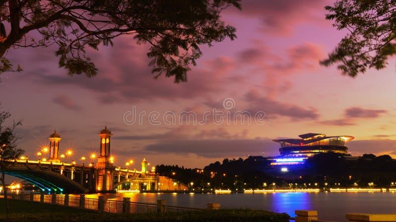 bridżowy jutrzenkowy Putrajaya zdjęcie stock