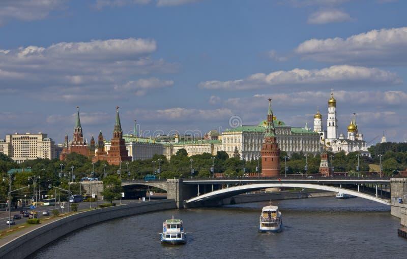 bridżowy Kremlin Moscow fotografia stock