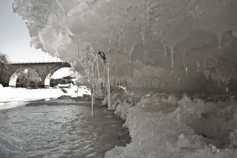bridżowy lód fotografia stock
