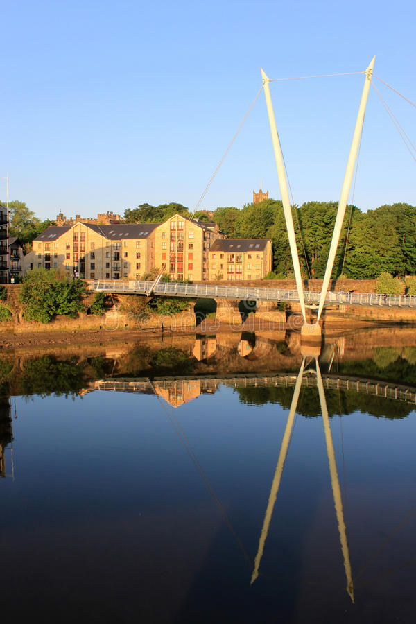 bridżowy Lancaster lune milenium nad rzeką obraz stock