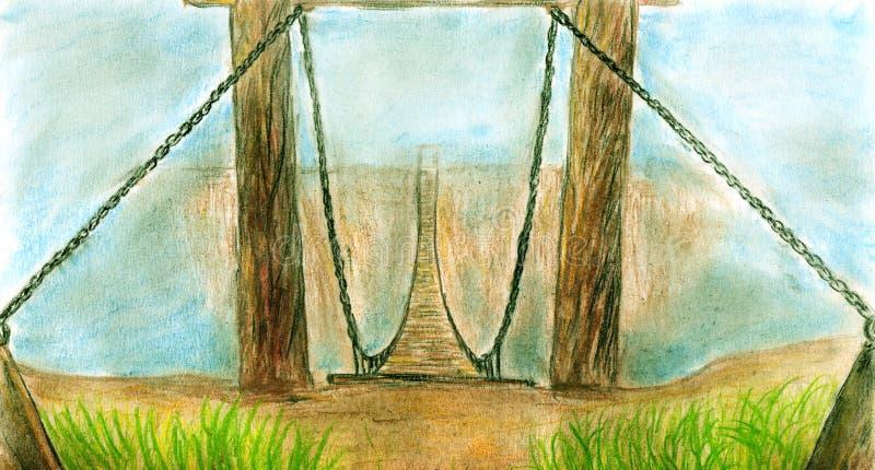 bridżowy latanie royalty ilustracja