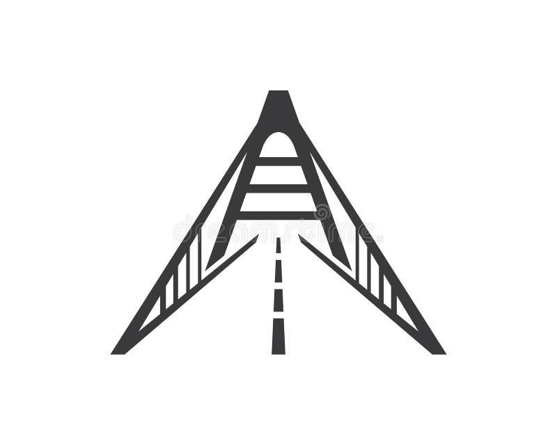Bridżowy loga szablon ilustracji