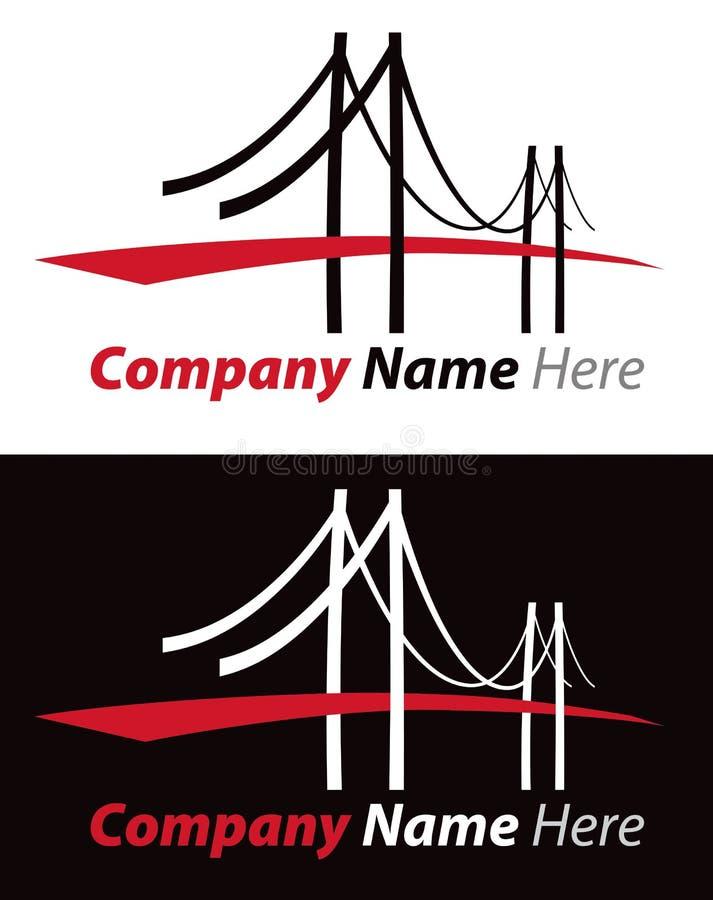 Bridżowy logo royalty ilustracja