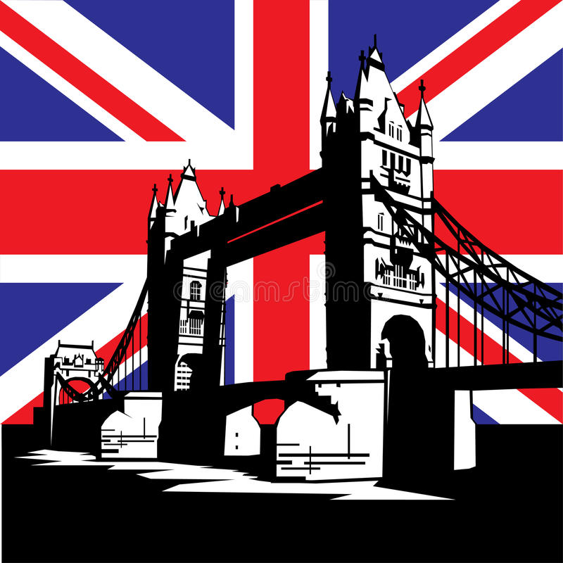 bridżowy London royalty ilustracja