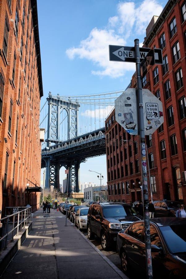 bridżowy miasto Manhattan nowy York obraz stock
