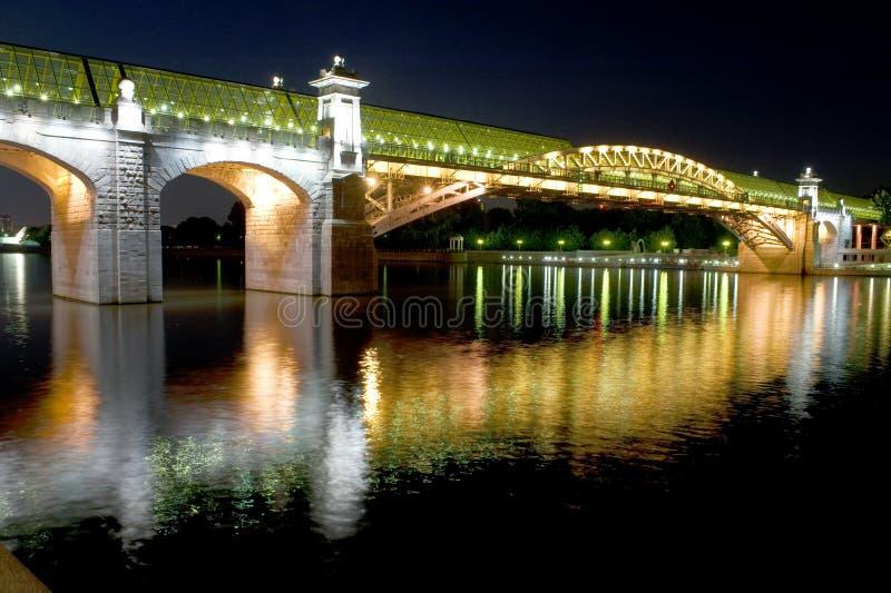 bridżowy nożny Moscow obraz stock