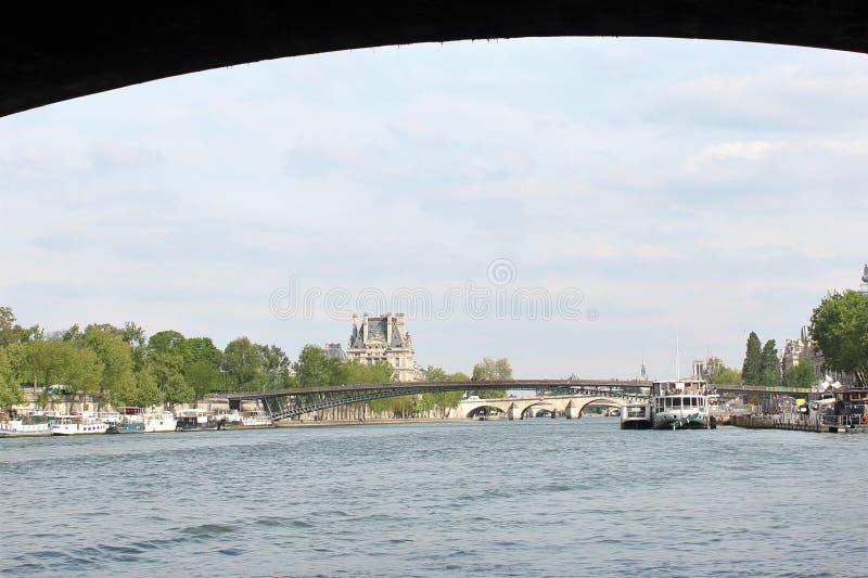 bridżowy nowożytny Paris rzeki wonton obraz royalty free