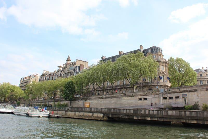 bridżowy nowożytny Paris rzeki wonton zdjęcia royalty free