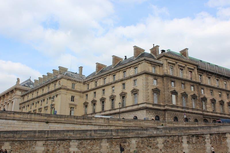 bridżowy nowożytny Paris rzeki wonton obrazy royalty free