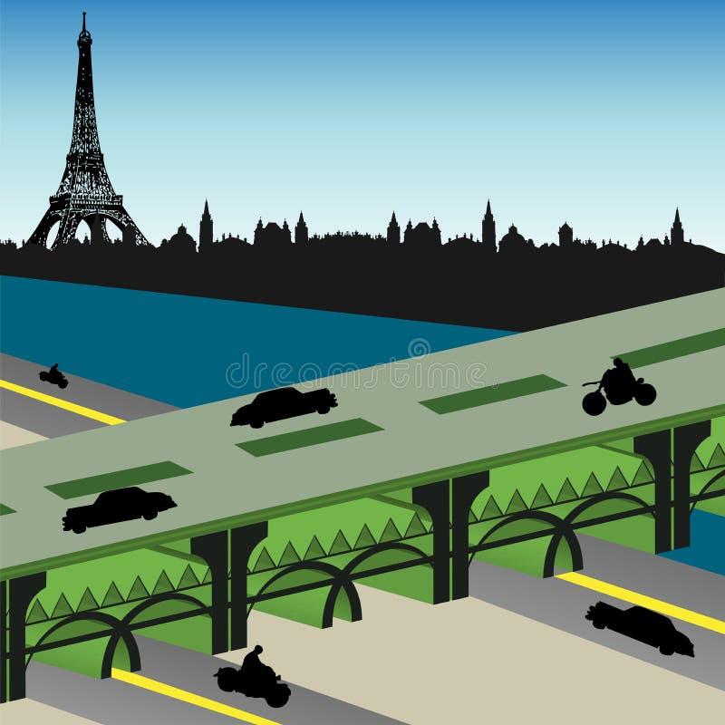 bridżowy Paris royalty ilustracja