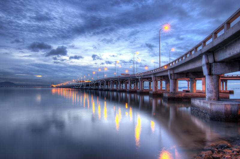 bridżowy Penang zdjęcia stock