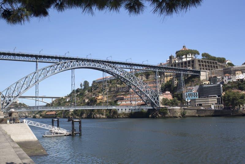 Bridżowy Ponte De Dona Maria Pia zdjęcia stock