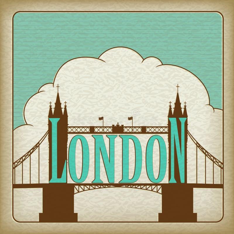 bridżowy punkt zwrotny London wierza ilustracji
