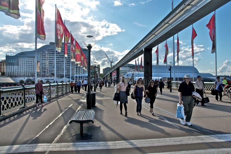 bridżowy pyrmont Sydney fotografia royalty free