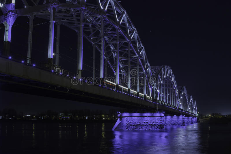 bridżowy Riga obraz stock