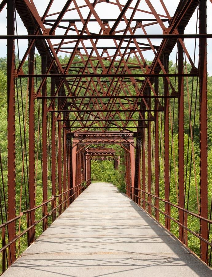 bridżowy stary truss fotografia stock