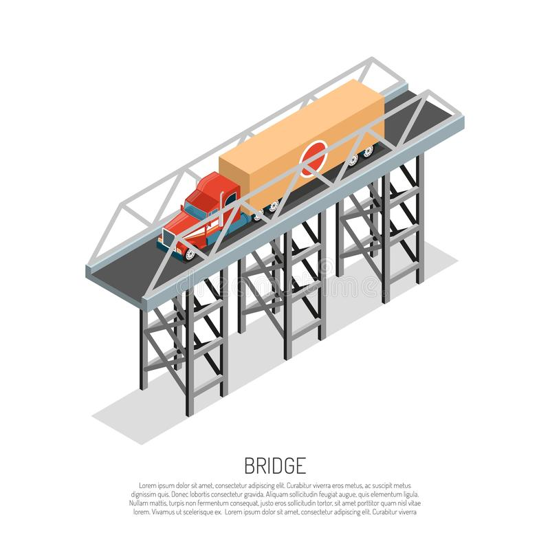 Bridżowy szczegół Isometric royalty ilustracja