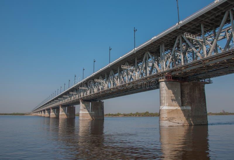 Bridżowy troght rzeczny Amur obrazy stock