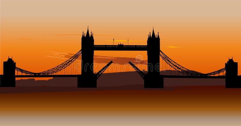 bridżowy uk London basztowy royalty ilustracja
