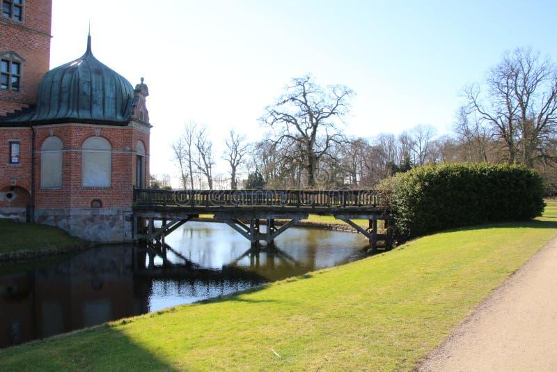 Bridżowy Vallø kasztel zdjęcie stock
