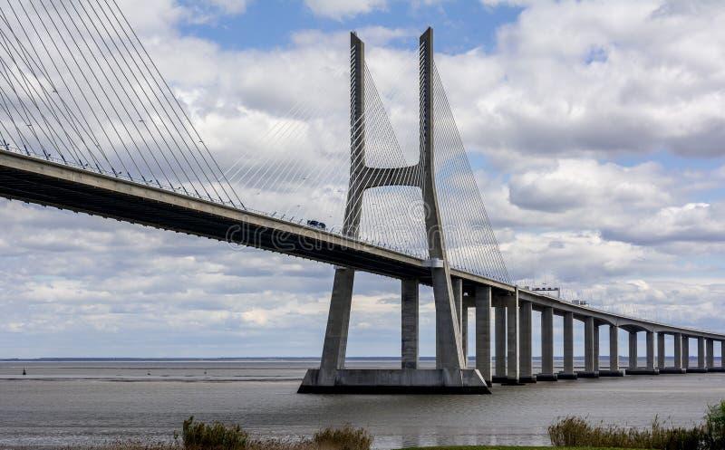 Bridżowy Vasco Da Gama, Lisbon zdjęcie stock