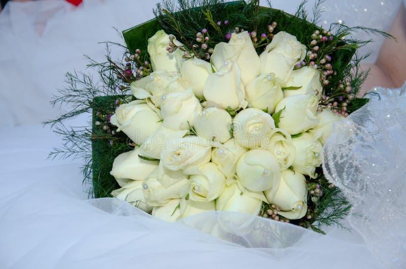 Bridal букет белой розы стоковое фото rf