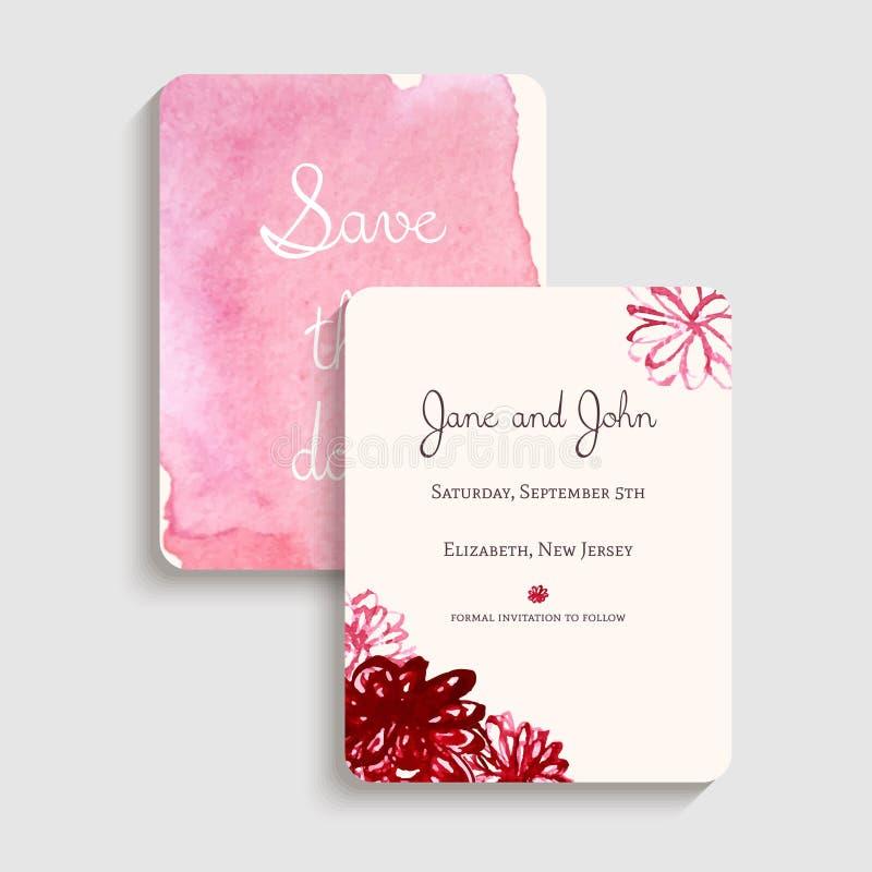 Bridal карточка приглашения ливня также вектор иллюстрации притяжки corel иллюстрация штока