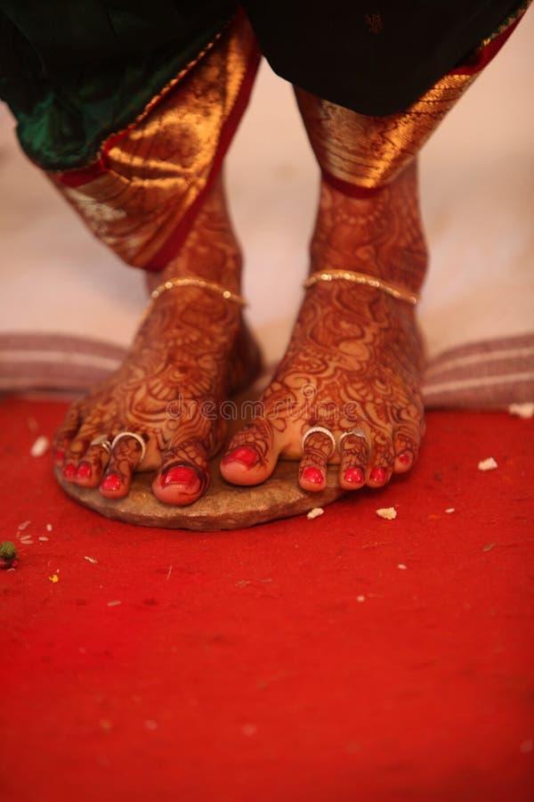 Bridal ноги ритуальные стоковая фотография