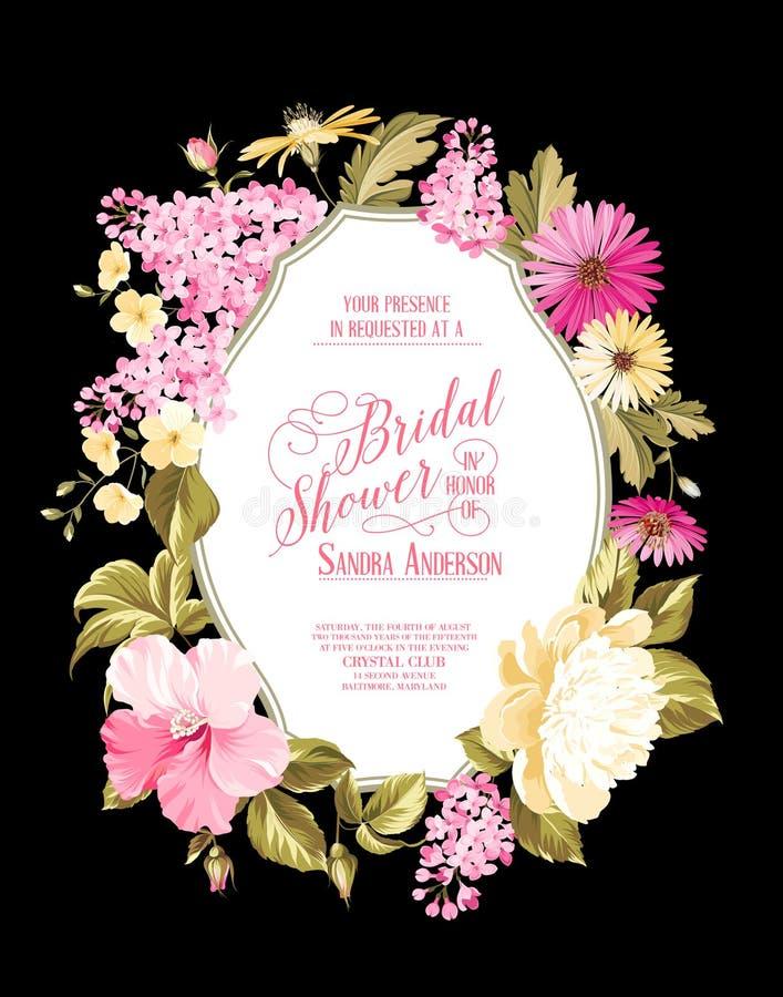 Bridal приглашение ливня иллюстрация штока