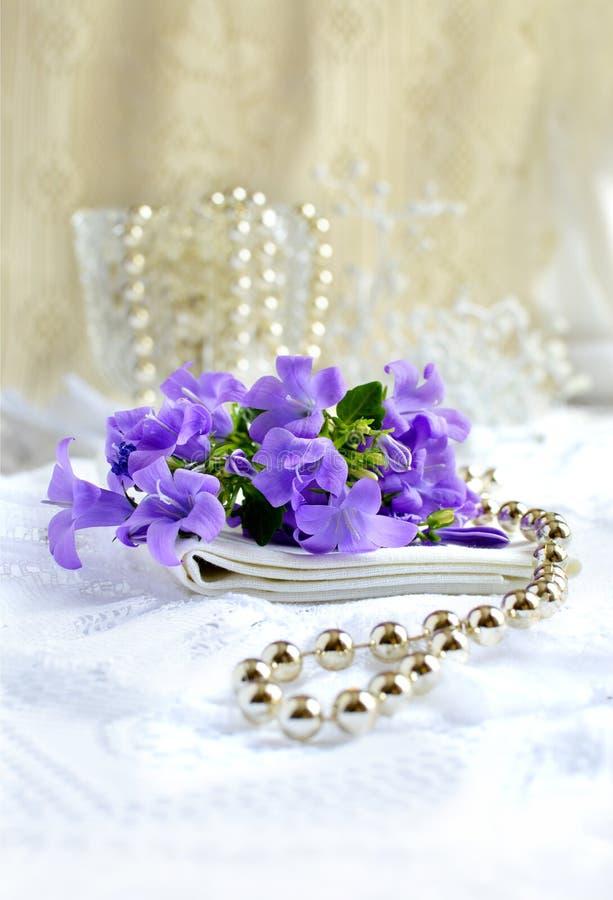 Bridal таблица шлихты стоковое фото