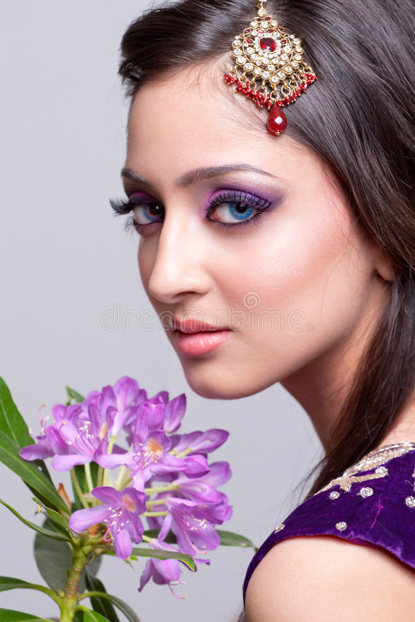 Download Bridal asian makeup stock photo. Image of jewelry, fashion - 13930050