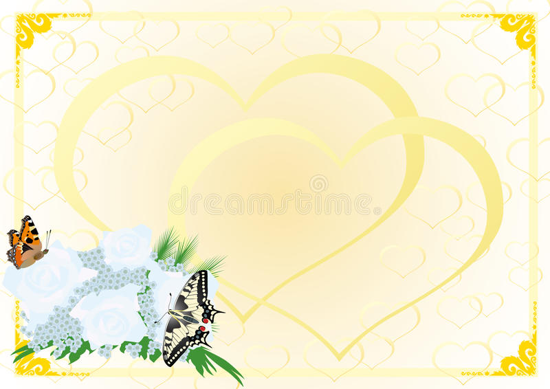 Download Bridal Bouquet And Butterflies Stock Vector - Illustration: 20544843