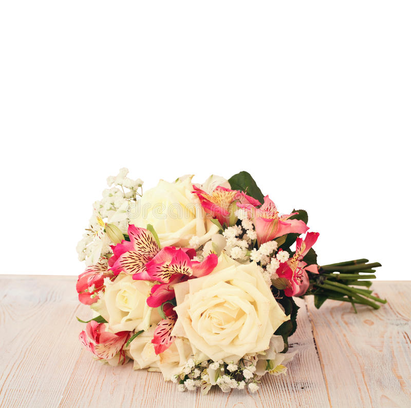 Free Bridal Bouquet Of Flowers Isolated. Stock Photography - 43960312
