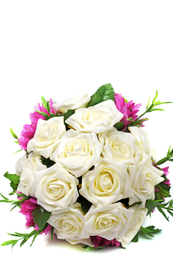 Bridal bouquet of roses royalty free stock images
