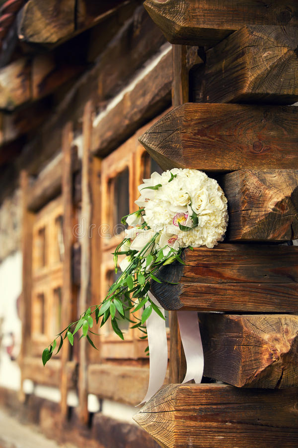 Bridal bukiet na belach obrazy royalty free