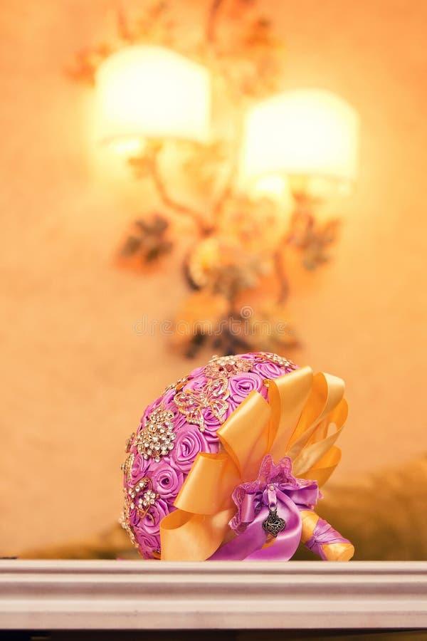 Bridal bukiet od róż obraz royalty free