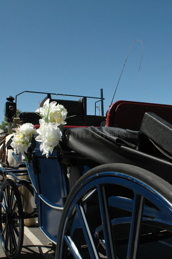 Bridal carriage royalty free stock photography