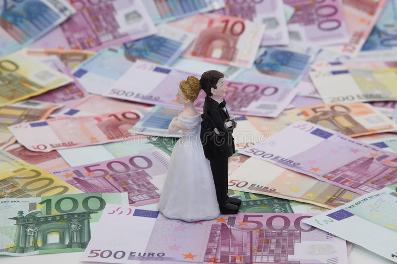 Download Bridal Couple and Money stock image. Image of yellow - 18110167
