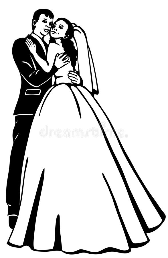 Bridal couple stock images