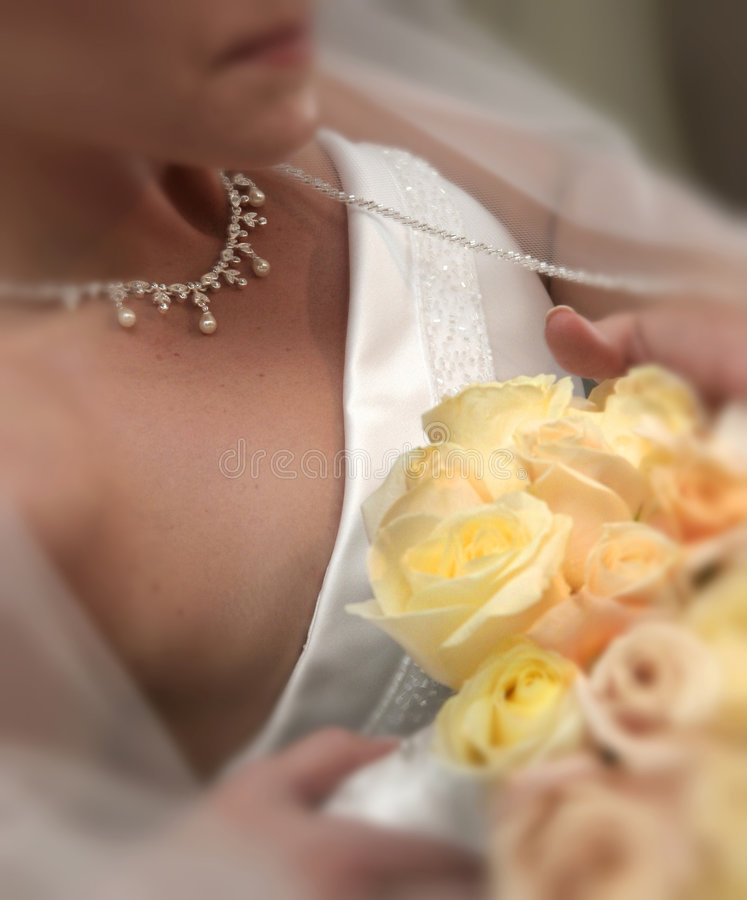 Bridal details stock photography