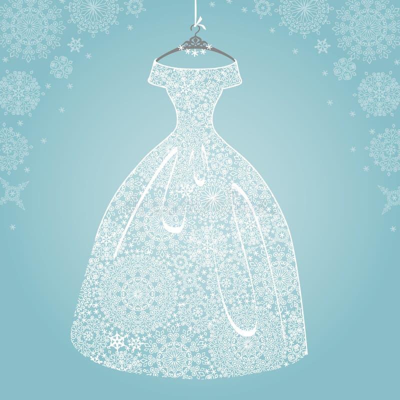 Bridal Dress Wedding Snowflake Lace Stock Photo Image