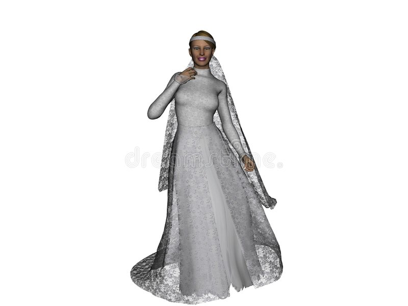 Download Bridal fashion 2 stock illustration. Illustration of generated - 3507190